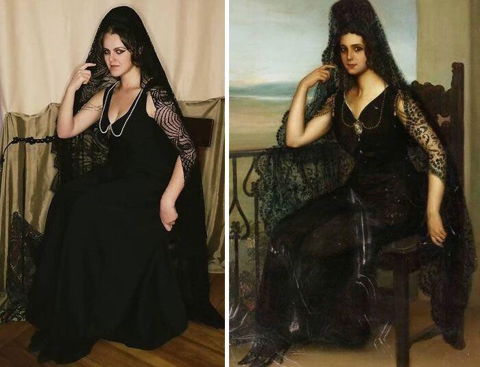 Mulher recria obras de arte com detalhes incríveis (42 fotos) 35