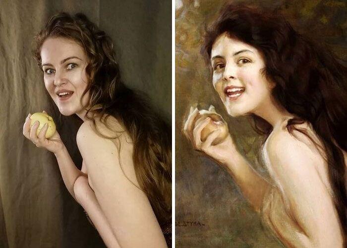 Mulher recria obras de arte com detalhes incríveis (42 fotos) 37