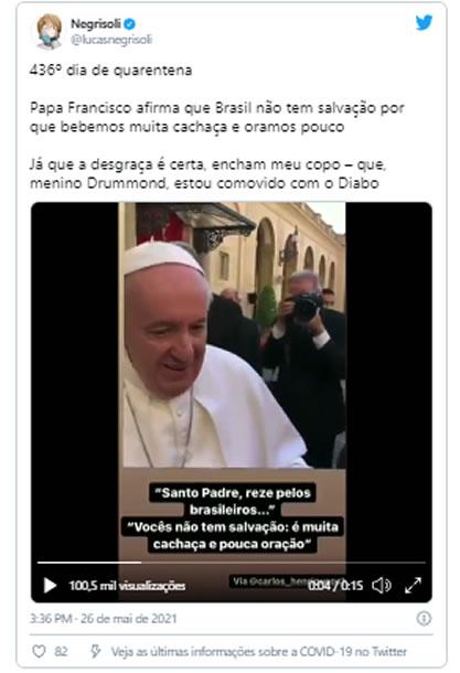 Papa Francisco acha que o Brasil não tem mais salvação 7