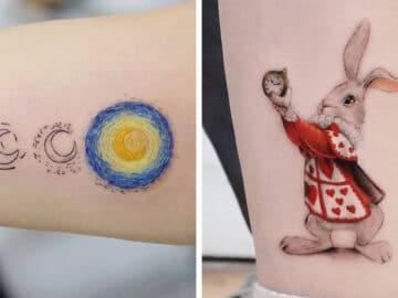 39 tatuagens detalhadas de personagens e pinturas populares de Hanak Adik 8