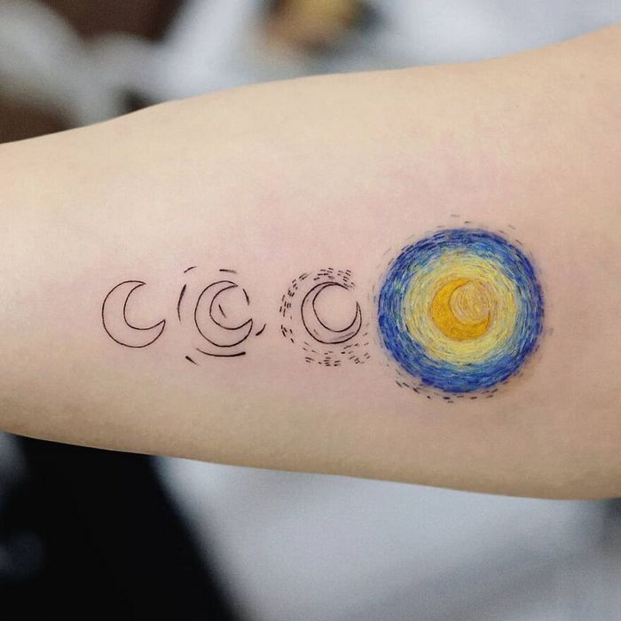 39 tatuagens detalhadas de personagens e pinturas populares de Hanak Adik 2