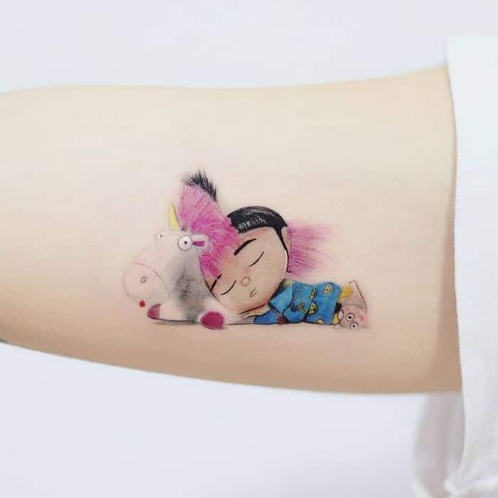39 tatuagens detalhadas de personagens e pinturas populares de Hanak Adik 7