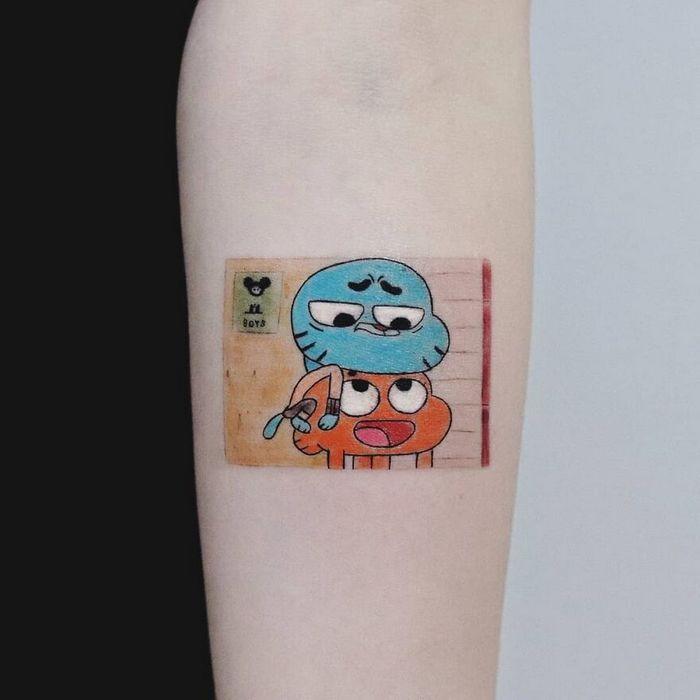 39 tatuagens detalhadas de personagens e pinturas populares de Hanak Adik 15