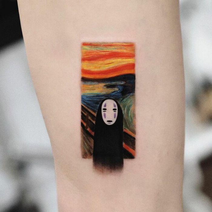 39 tatuagens detalhadas de personagens e pinturas populares de Hanak Adik 21