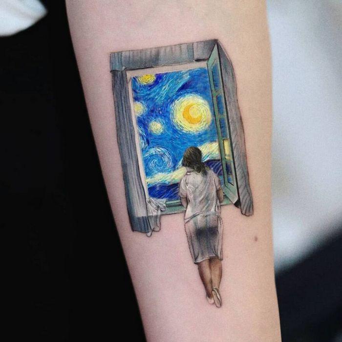 39 tatuagens detalhadas de personagens e pinturas populares de Hanak Adik 27