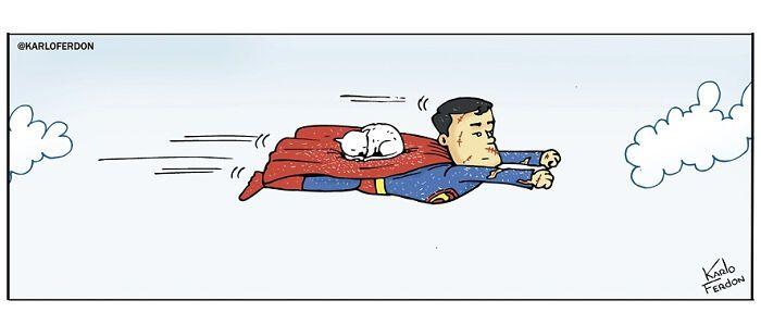 Artista mostra o que os super-heróis estão fazendo em seu tempo livre (30 fotos) 11