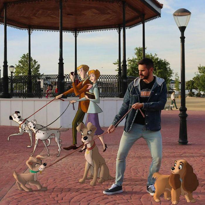 Artista recria situações do dia a dia com personagens da Disney e o resultado é incrível (35 fotos) 2