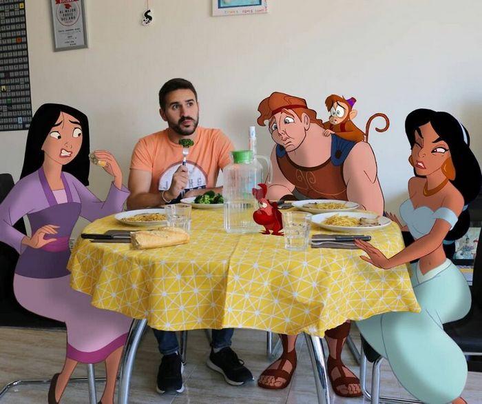 Artista recria situações do dia a dia com personagens da Disney e o resultado é incrível (35 fotos) 15