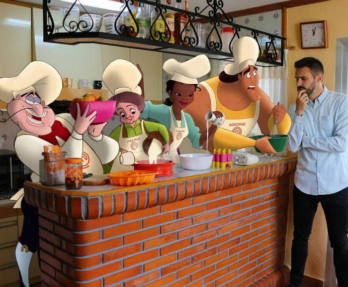 Artista recria situações do dia a dia com personagens da Disney e o resultado é incrível (35 fotos) 16
