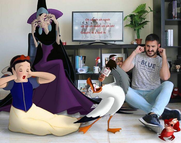 Artista recria situações do dia a dia com personagens da Disney e o resultado é incrível (35 fotos) 17