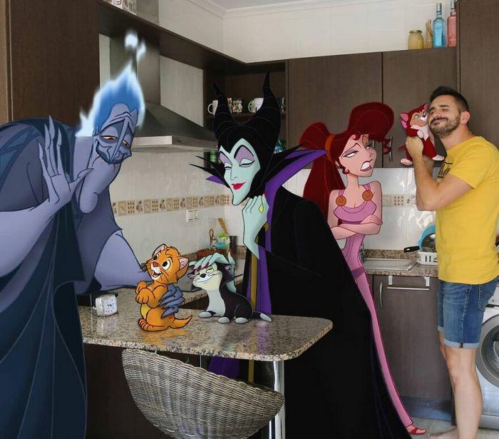 Artista recria situações do dia a dia com personagens da Disney e o resultado é incrível (35 fotos) 25