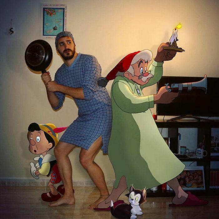 Artista recria situações do dia a dia com personagens da Disney e o resultado é incrível (35 fotos) 28