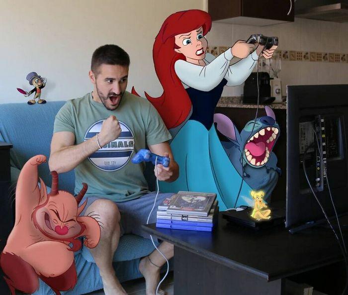 Artista recria situações do dia a dia com personagens da Disney e o resultado é incrível (35 fotos) 30