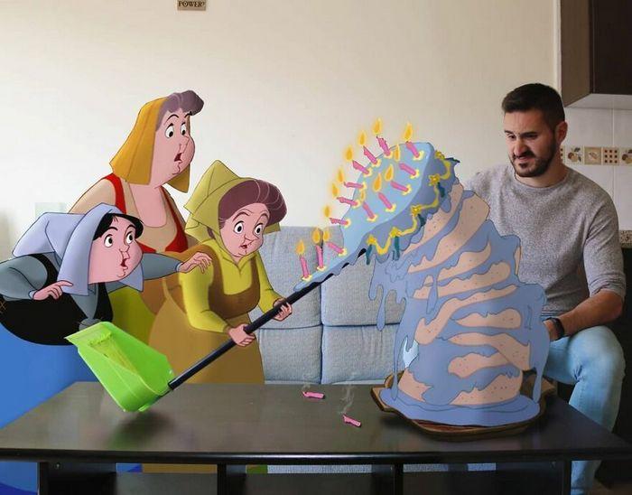 Artista recria situações do dia a dia com personagens da Disney e o resultado é incrível (35 fotos) 31