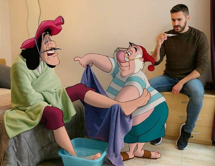 Artista recria situações do dia a dia com personagens da Disney e o resultado é incrível (35 fotos) 32