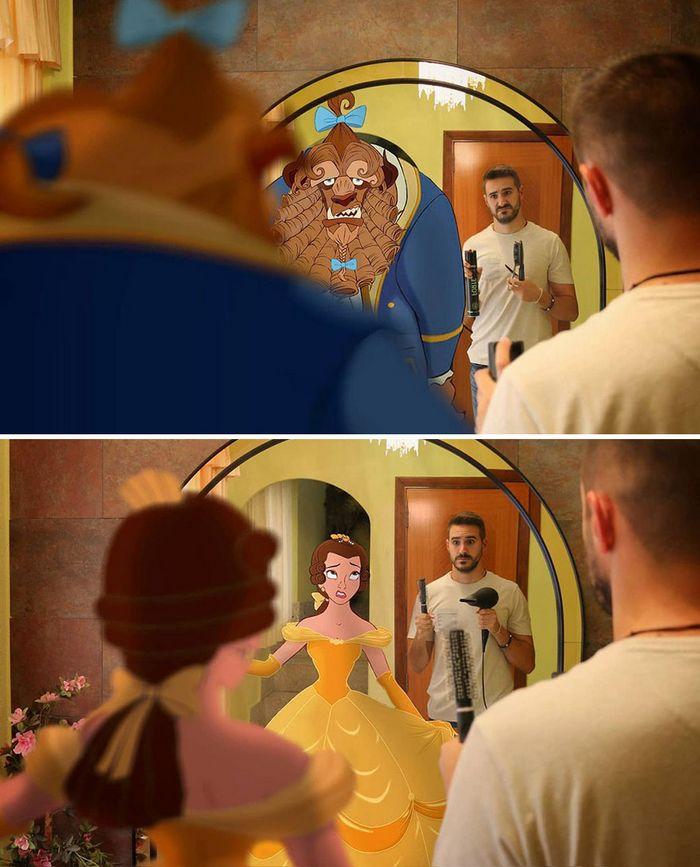 Artista recria situações do dia a dia com personagens da Disney e o resultado é incrível (35 fotos) 34