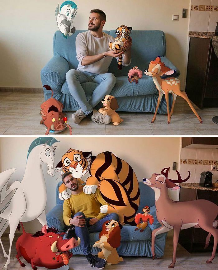 Artista recria situações do dia a dia com personagens da Disney e o resultado é incrível (35 fotos) 35