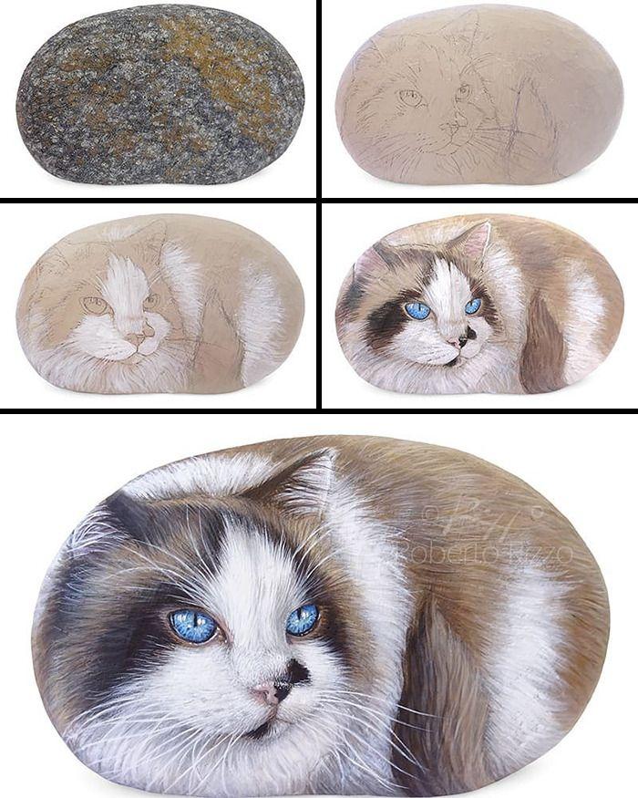 Artista transforma pedras em pinturas incríveis de animais (30 fotos) 3