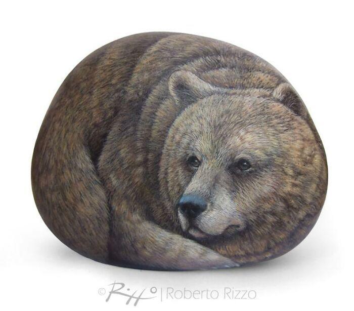 Artista transforma pedras em pinturas incríveis de animais (30 fotos) 5