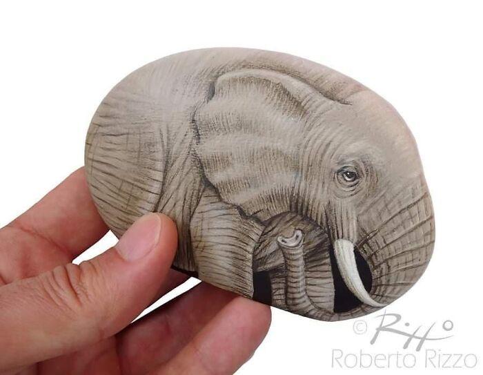 Artista transforma pedras em pinturas incríveis de animais (30 fotos) 7