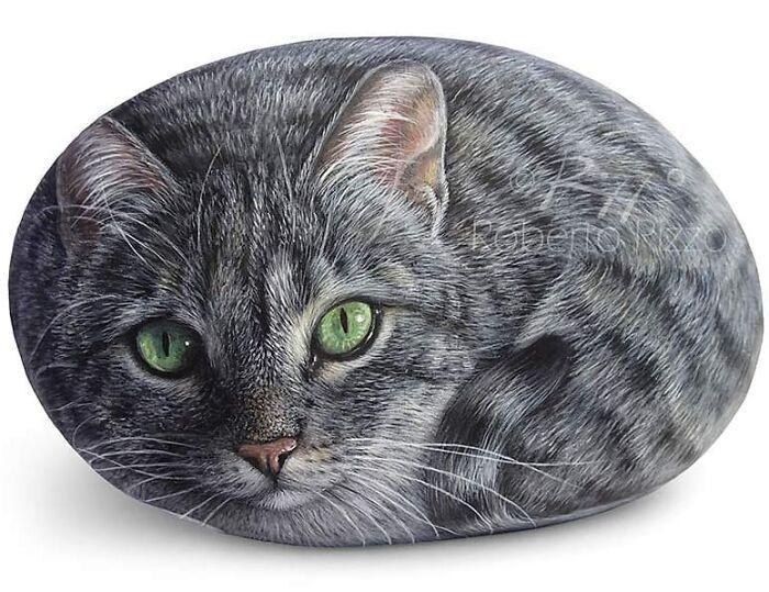 Artista transforma pedras em pinturas incríveis de animais (30 fotos) 17
