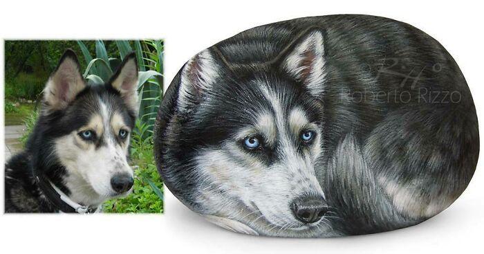 Artista transforma pedras em pinturas incríveis de animais (30 fotos) 19