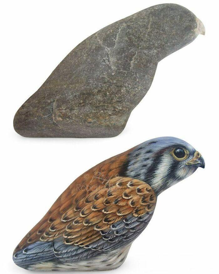 Artista transforma pedras em pinturas incríveis de animais (30 fotos) 30