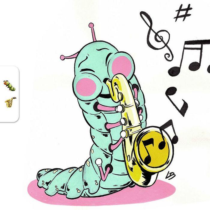 Desafio do emoji: Combinação aleatórios de emojis para artista desenhar (34 fotos) 23