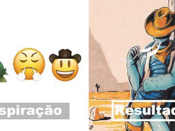 Desafio do emoji: Combinação aleatórios de emojis para artista desenhar (34 fotos) 2