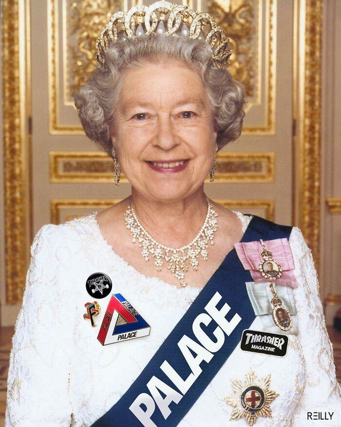 48 edições engraçadas que este artista criou da rainha Elizabeth 7