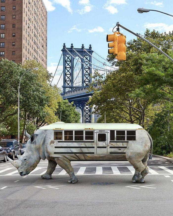 Esta agência de design transforma animais, plantas e outras coisas em imagens surreais usando o Photoshop (48 fotos) 18