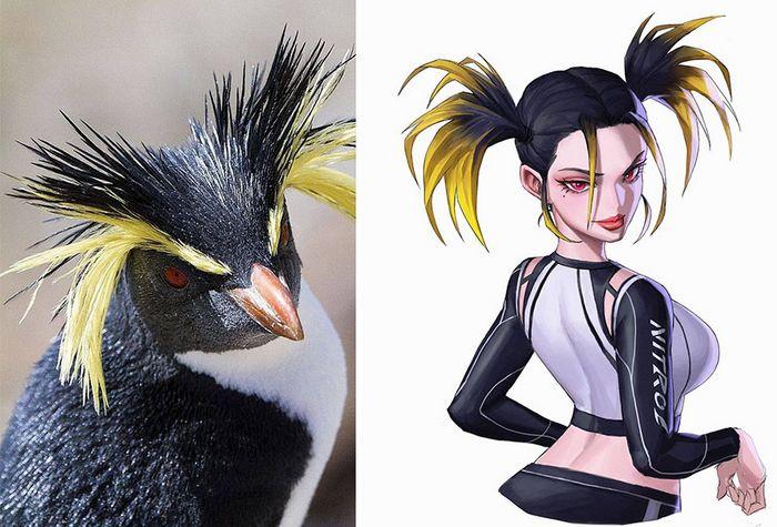 Este artista usa animais como inspiração para criar personagens originais de anime (23 fotos) 12