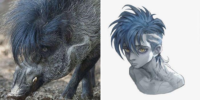 Este artista usa animais como inspiração para criar personagens originais de anime (23 fotos) 18