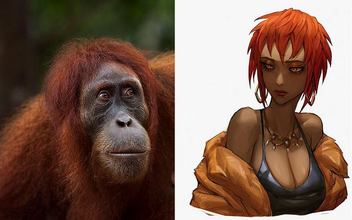 Este artista usa animais como inspiração para criar personagens originais de anime (23 fotos) 19