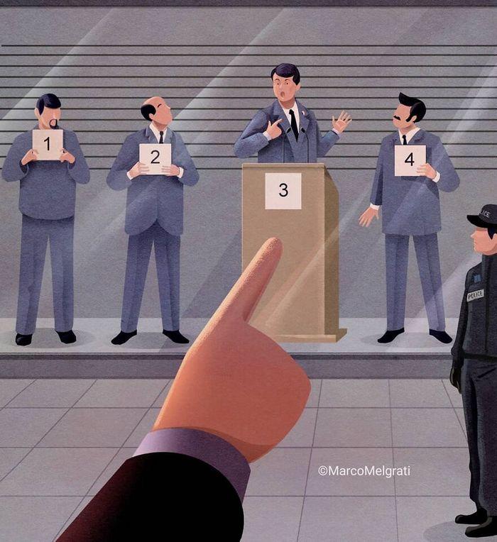 Ilustrador criticar nossa sociedade por meio de sua arte instigantes, repletas de críticas sociais (47 fotos) 32