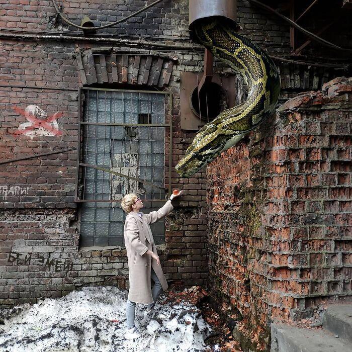 30 montagem de fotos inesperadas com animais gigantes por Vadim Solovyev 7