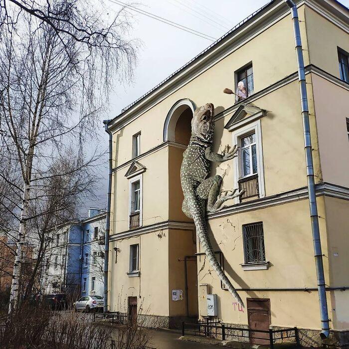 30 montagem de fotos inesperadas com animais gigantes por Vadim Solovyev 8