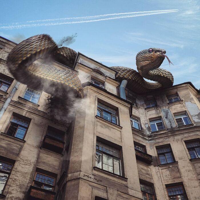 30 montagem de fotos inesperadas com animais gigantes por Vadim Solovyev 18
