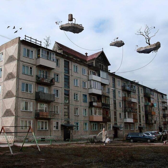 30 montagem de fotos inesperadas com animais gigantes por Vadim Solovyev 25