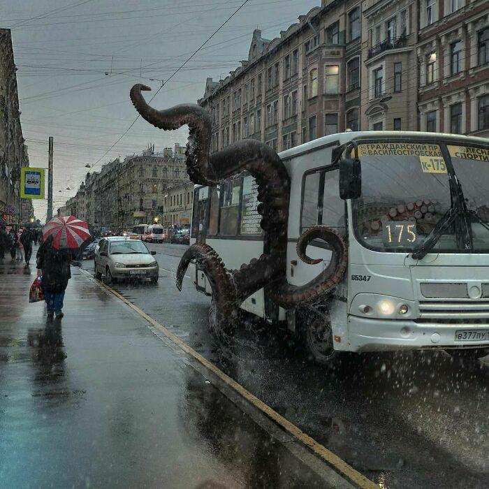 30 montagem de fotos inesperadas com animais gigantes por Vadim Solovyev 27