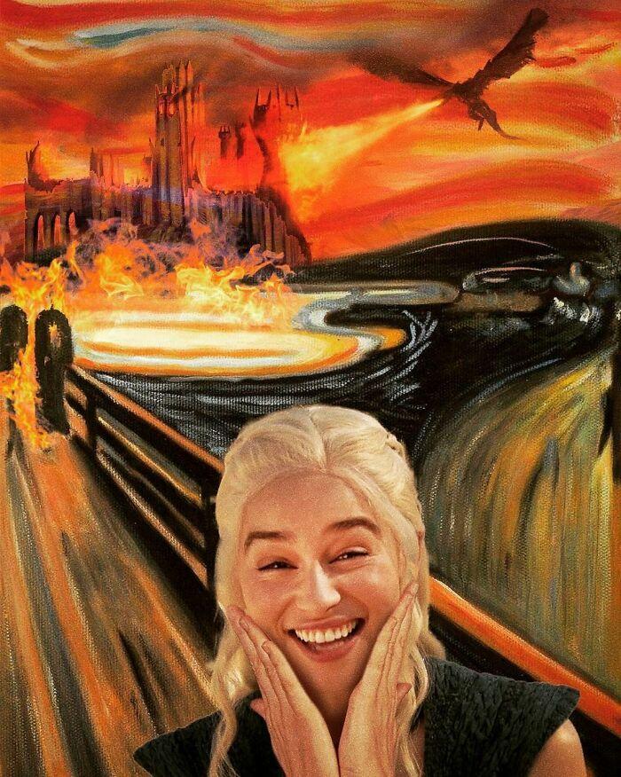 O que acontece quando você combina pinturas famosas e cultura pop (42 fotos) 20