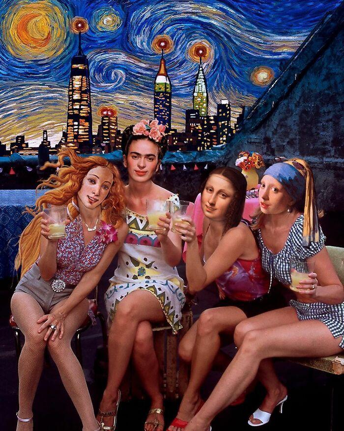 O que acontece quando você combina pinturas famosas e cultura pop (42 fotos) 36