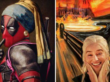 O que acontece quando você combina pinturas famosas e cultura pop (42 fotos) 2