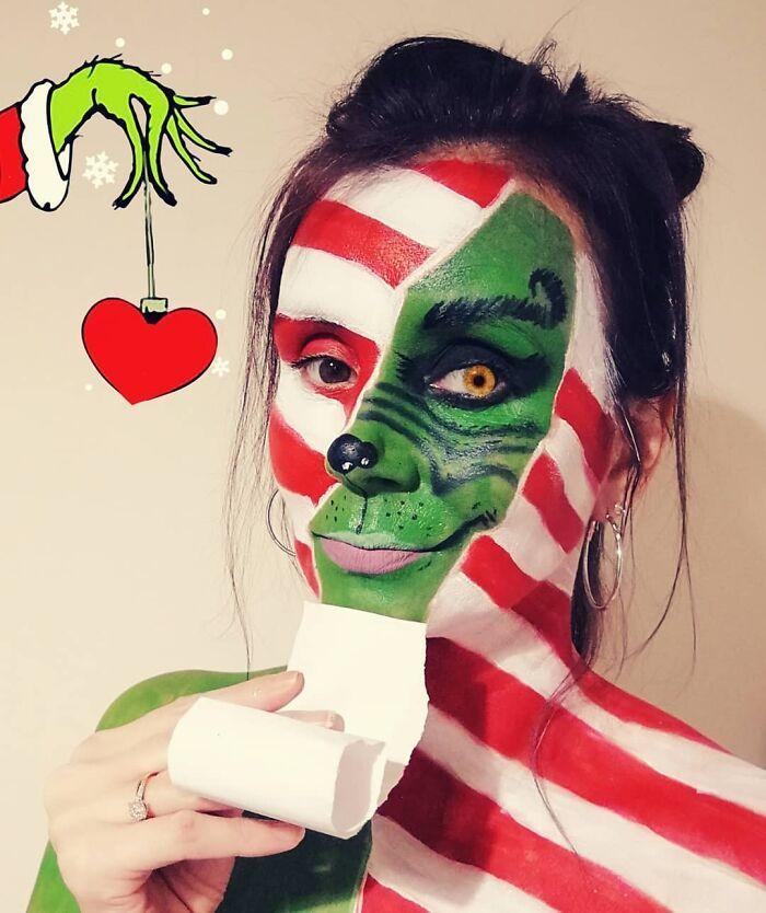 44 transformações com maquiagem: Ilusões de ótica 17