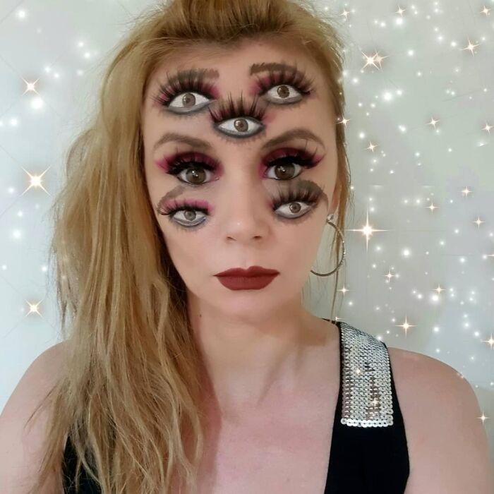 44 transformações com maquiagem: Ilusões de ótica 41