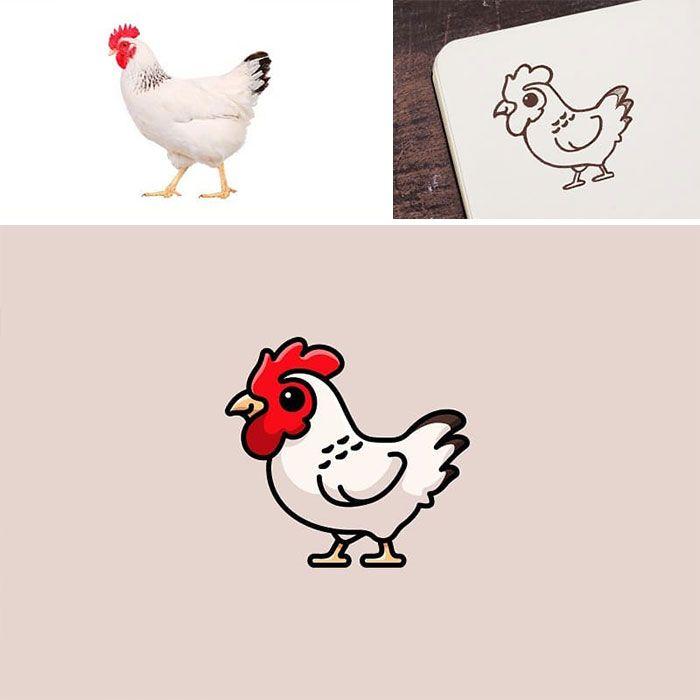 Artista cria adoráveis ilustrações inspiradas em coisas aleatórias (40 fotos) 2