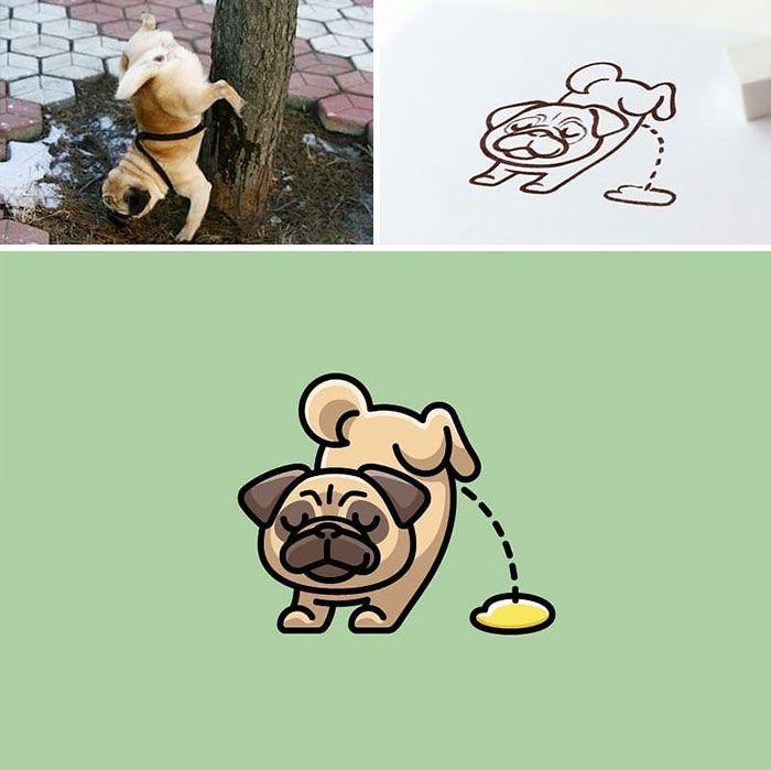 Artista cria adoráveis ilustrações inspiradas em coisas aleatórias (40 fotos) 8