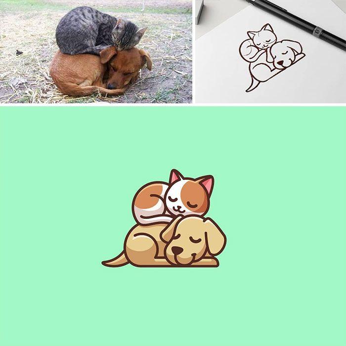 Artista cria adoráveis ilustrações inspiradas em coisas aleatórias (40 fotos) 19