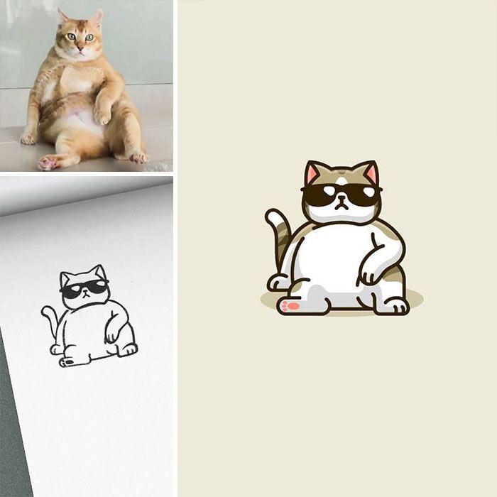 Artista cria adoráveis ilustrações inspiradas em coisas aleatórias (40 fotos) 23