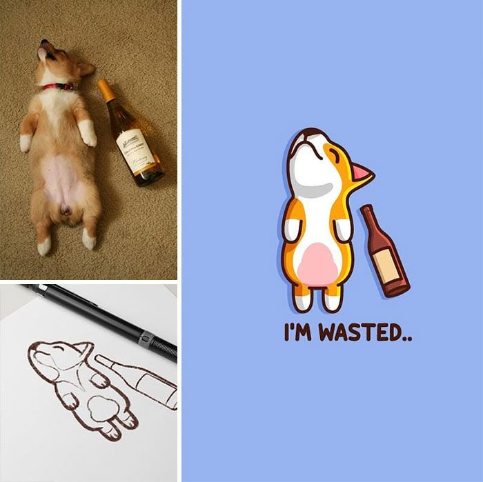 Artista cria adoráveis ilustrações inspiradas em coisas aleatórias (40 fotos) 27